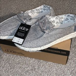 Grey hey dude shoes